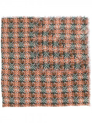 Длинный шарф в клетку Gucci. Цвет: оранжевый