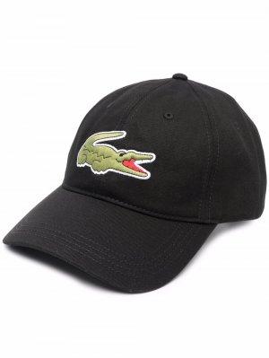 Бейсболка с вышитым логотипом Lacoste. Цвет: черный