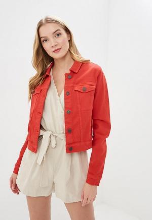 Куртка джинсовая Noisy May. Цвет: красный