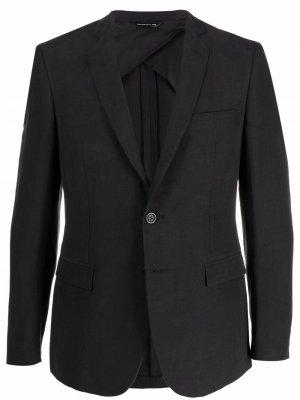 Однобортный пиджак строгого кроя Tonello. Цвет: черный