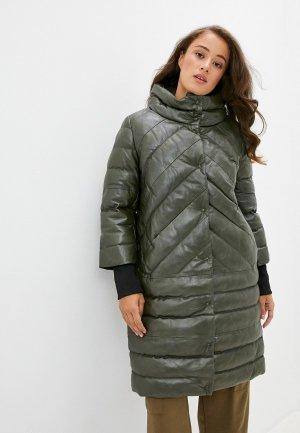 Куртка утепленная Снежная Королева. Цвет: зеленый