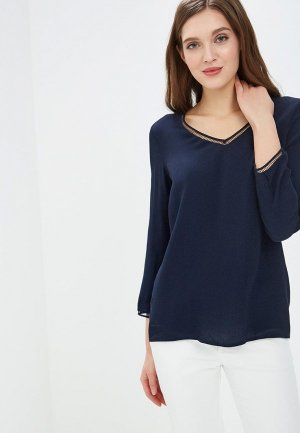 Блуза Perspective. Цвет: синий