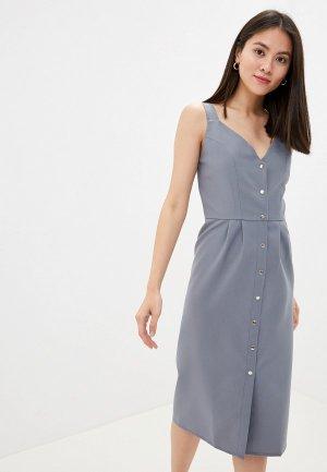 Платье GALOLBO. Цвет: серый