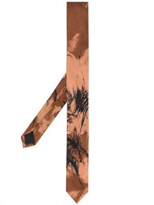 Галстук 1990-х годов с абстрактным принтом Gianfranco Ferré Pre-Owned. Цвет: коричневый