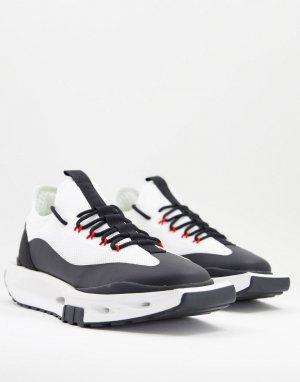 Светло-бежевые трикотажные кроссовки на толстой технологичной подошве -Светло-бежевый цвет ASOS DESIGN