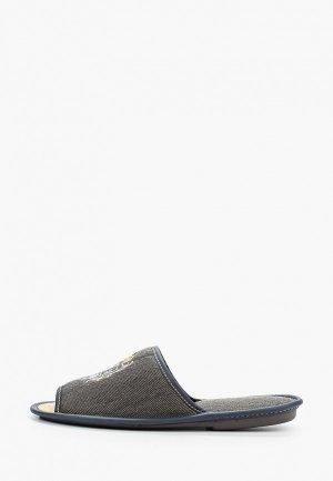 Тапочки MCM. Цвет: серый