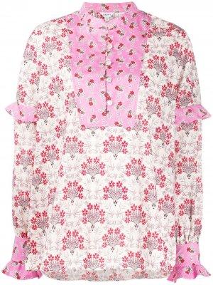 Блузка Tana с оборками Liberty London. Цвет: розовый