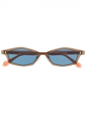 Солнцезащитные очки в прозрачной оправе Spektre. Цвет: коричневый