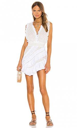 Мини платье embroidered CHIO. Цвет: белый