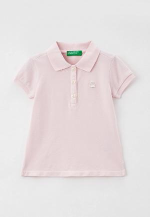 Поло United Colors of Benetton. Цвет: розовый