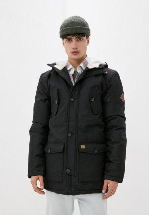 Куртка утепленная Indicode Jeans Paul. Цвет: черный