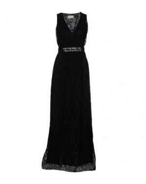 Длинное платье VDP COLLECTION. Цвет: черный