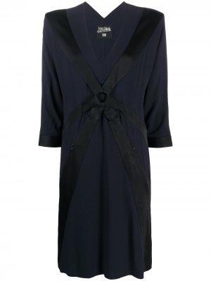 Платье-трапеция с V-образным вырезом Jean Paul Gaultier Pre-Owned. Цвет: черный