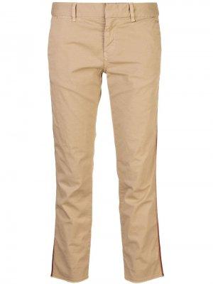 Укороченные брюки чинос кроя слим Nili Lotan. Цвет: коричневый