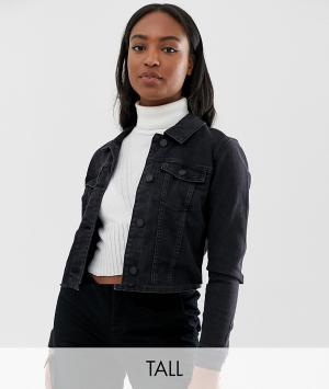 Джинсовая куртка Noisy May Tall. Цвет: черный