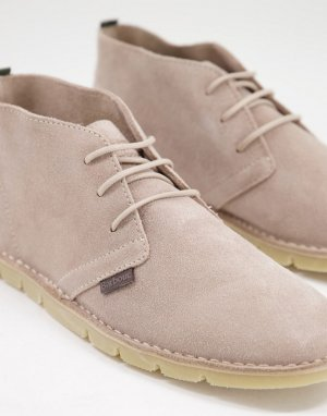 Светло-бежевые замшевые ботинки дезерты Ledger-Светло-бежевый цвет Barbour