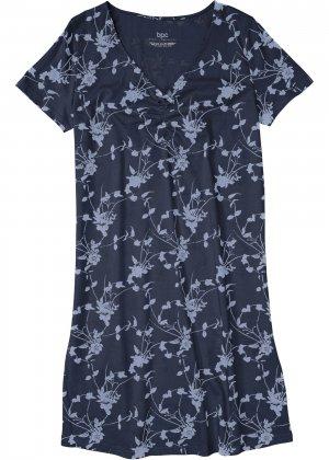 Сорочка ночная bonprix. Цвет: синий
