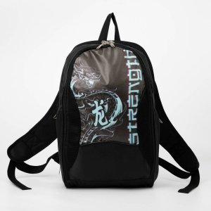 Рюкзак, 2 отдела на молниях, цвет чёрный, NAZAMOK
