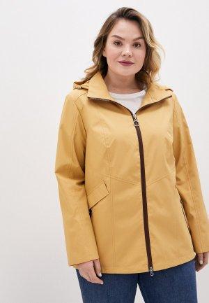 Куртка Le Monique. Цвет: желтый