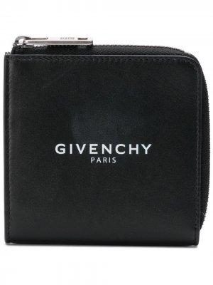 Визитница с принтом логотипа Givenchy. Цвет: черный