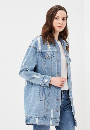 Куртка джинсовая B.Style. Цвет: синий