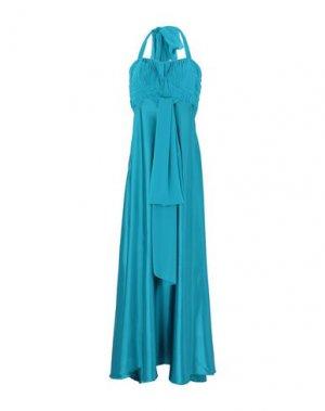 Длинное платье CARLO PIGNATELLI. Цвет: бирюзовый