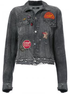 Patch denim jacket Amiri. Цвет: серый