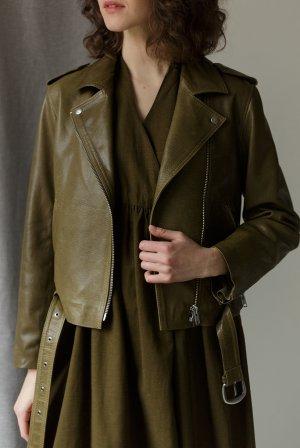 Куртка-косуха ЧЕРЕШНЯ. Цвет: оливковый