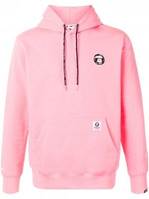 Худи с вышитым логотипом AAPE BY *A BATHING APE®. Цвет: розовый