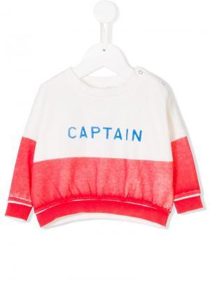Свитер Captain дизайна колор-блок Bobo Choses. Цвет: белый