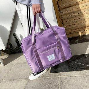 Дорожная сумка большей емкости SHEIN. Цвет: пурпурный