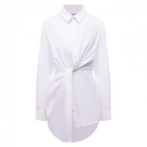 Хлопковая рубашка alexanderwang.t. Цвет: белый