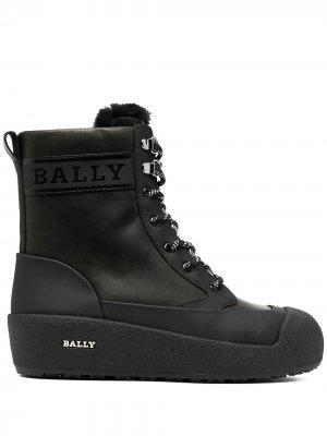 Ботинки Garbel на шнуровке Bally. Цвет: черный