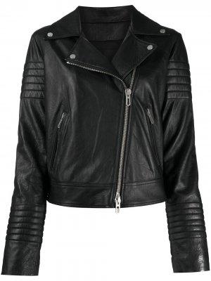 Байкерская куртка Drome. Цвет: черный