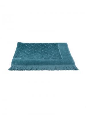 Пляжное полотенце с плетеным эффектом Bottega Veneta. Цвет: синий