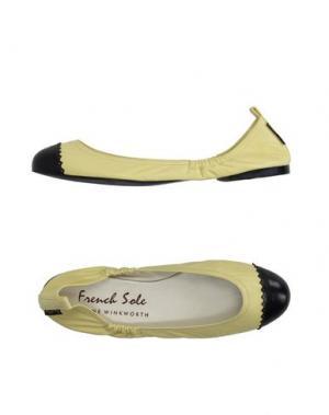 Балетки FRENCH SOLE. Цвет: светло-желтый