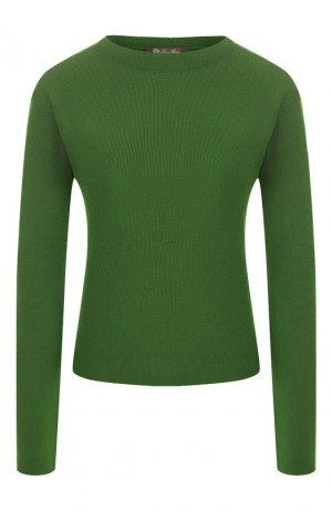 Кашемировый пуловер Loro Piana. Цвет: зеленый