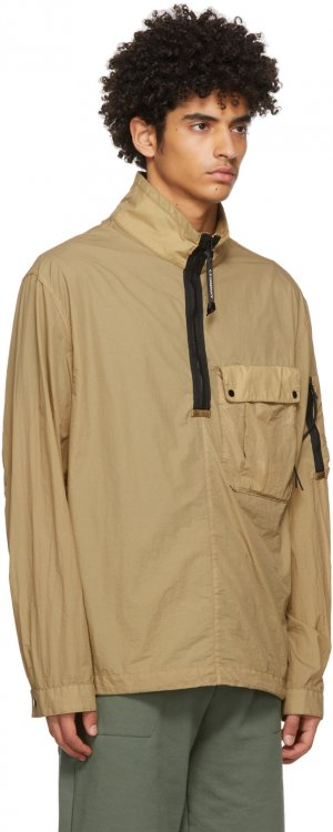 Beige Taylon L Mixed Overshirt C.P. Company. Цвет: 329 cornstk