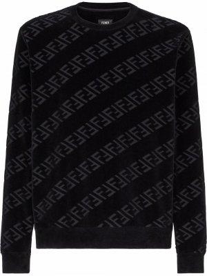 Толстовка с логотипом FF Fendi. Цвет: черный