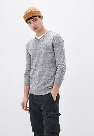 Пуловер Deeluxe. Цвет: серый