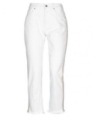 Джинсовые брюки PENCE. Цвет: слоновая кость