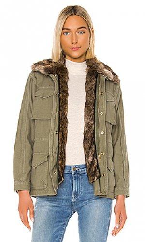 Куртка милитари FRAME. Цвет: зеленый