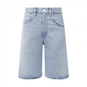 Джинсовые шорты Agolde. Цвет: синий