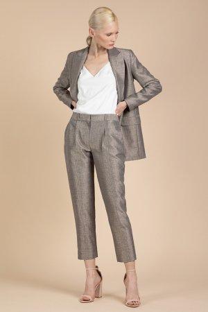Укороченные брюки классического кроя VASSA&Co. Цвет: коричневый