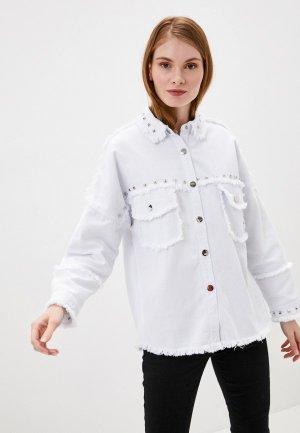 Куртка джинсовая By Swan. Цвет: белый
