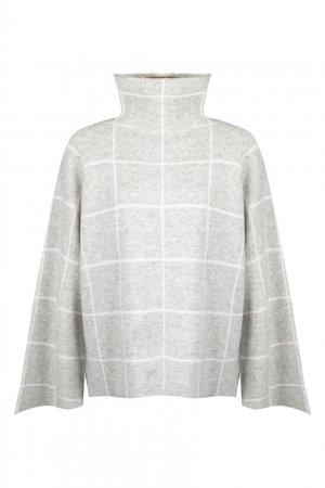 Серый пуловер Banana Max & Moi. Цвет: серый
