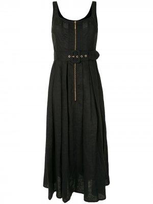 Платье Poppy с поясом Karen Walker. Цвет: синий