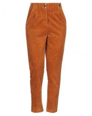 Повседневные брюки NÜMPH. Цвет: охра