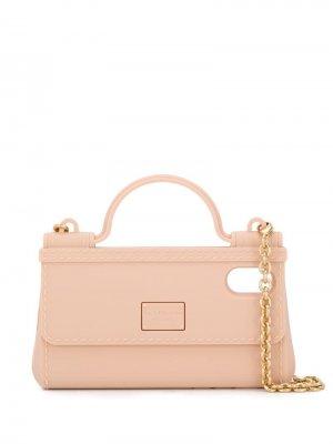 Чехол для iPhone X в форме сумки Dolce & Gabbana. Цвет: нейтральные цвета