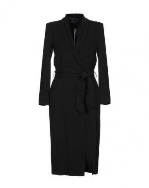 Платье длиной 3/4 ATOS LOMBARDINI. Цвет: черный